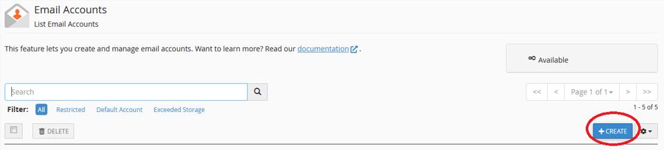 webmail cpanel
