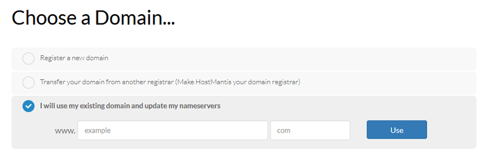 hostmantis domain