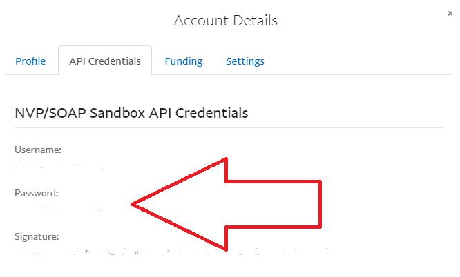 paypal sandbox api