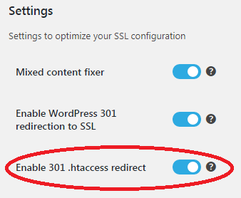 really simple ssl htaccess enabled