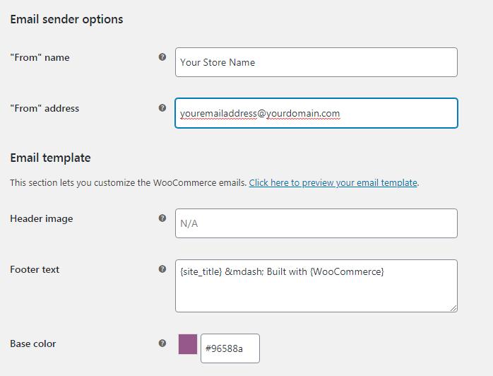 woocommerce customize email