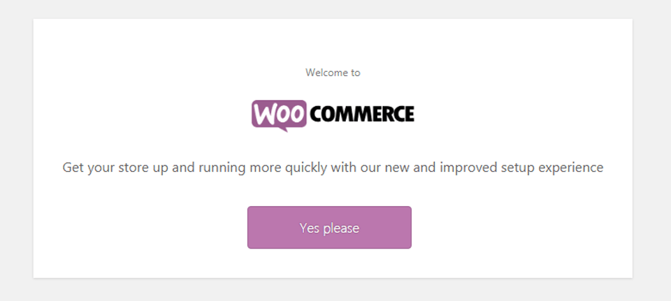woocommerce first setup