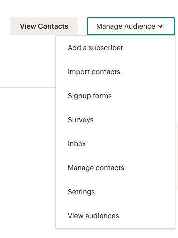 manage mailchimp audience