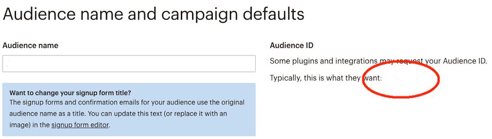 mailchimp audience id