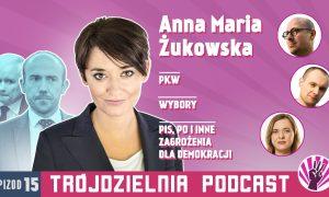Trójdzielnia #15 Rozmowa zAnną Marią Żukowską, PiS izmierzch polskiej demokracji