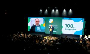 Rozpoczął się kongres ruchu Polska 2050. Wystąpi tajemniczy gość