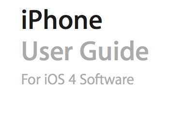 Apple Releases Massive iPhone 4/iOS 4 User Guide