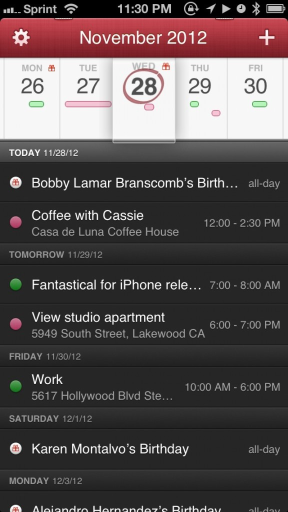 Fantastical For iPhone Is The Beautiful Calendar You've Been Looking For