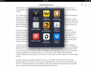 Inkwell  for Dropbox - A Simple Text Editing, Notes & Writing App by Matt Schrage screenshot