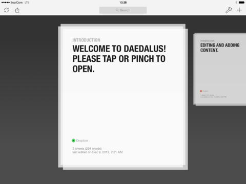 Daedalus Touch is a great alternative app to Microsoft Word for writers that like working on their iPad or iPhone