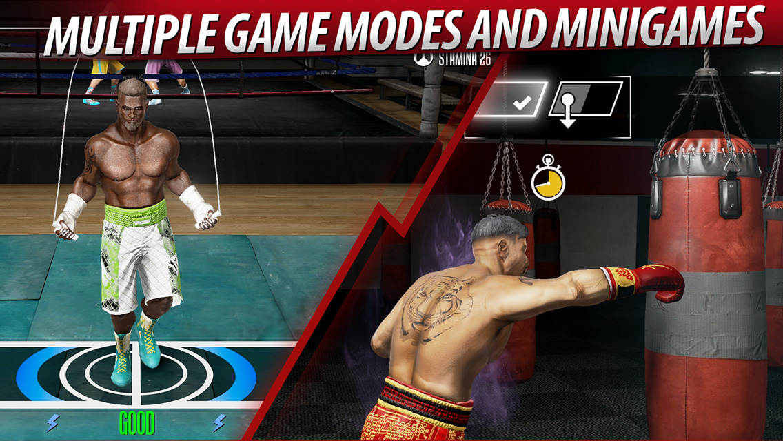 Real Boxing 2 is official mobile game of Rocky spinoff