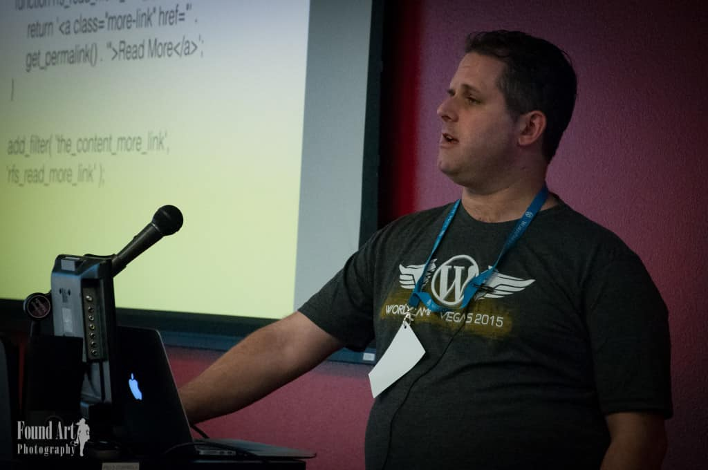 Robert Gilmer speaks on Actions & Filters, at WordCamp Las Vegas 2015 #wclv