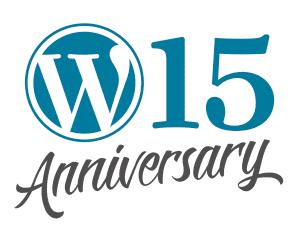 WordPress 15 Anniversary image