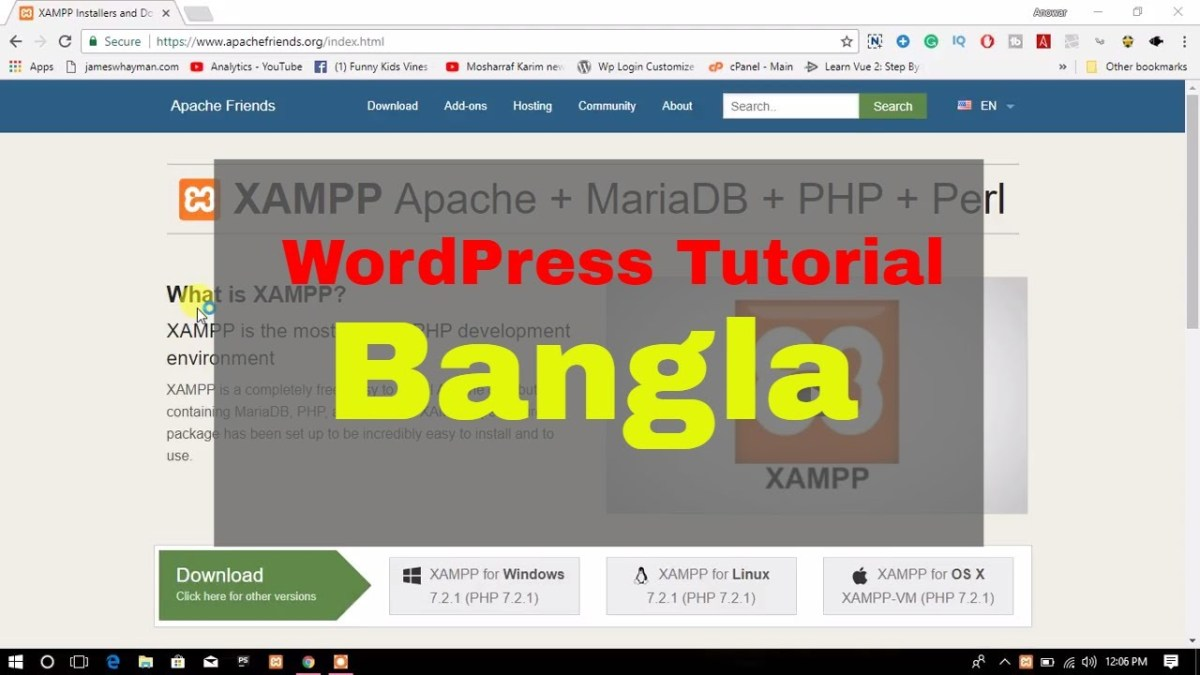Install WordPress on Localhost | Bangla Tutorial | ওয়ার্ডপ্রেস বাংলা  টিউটোরিয়াল
