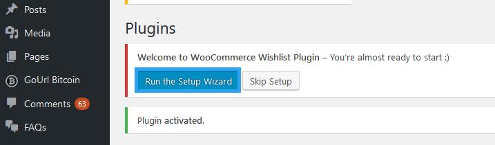 Ti WooCommerce Wishlist plugin setup
