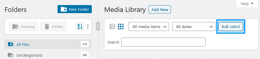 FileBird Media Library Bulk Move