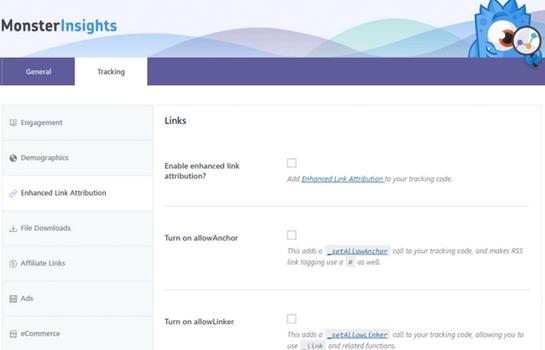 MonsterInsights - Google Analytics Enhanced Link Attribution