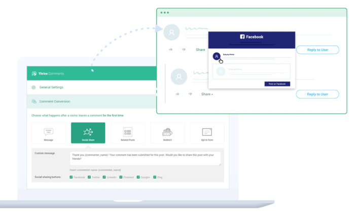 Thrive Comments - allows you to easily connect to your social media accounts