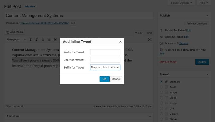 How Inline Tweet Sharer works