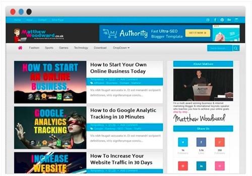 Authority Blogger Teması seo