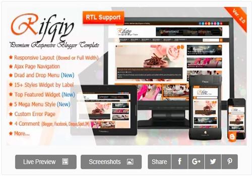 Rifqiy Blogger blog En İyi Tema
