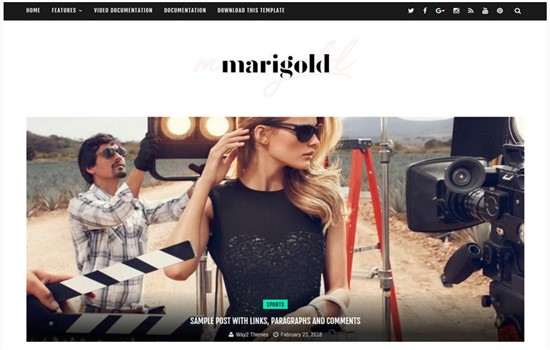 Dergi, haber, yaşam tarzı, kişisel blog teması.