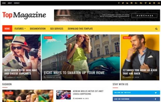 Gazete, dergi, spor blog teması.