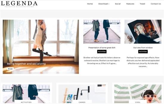 Moda, kadın blog teması.