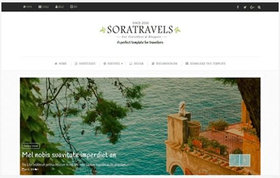 Moda, seyahat, gezi, fotoğrafçı blog teması.