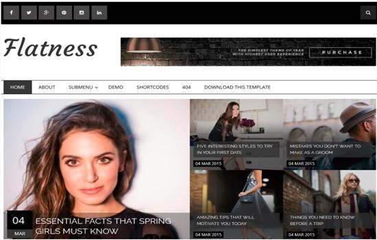 Online digital dergi blog teması.