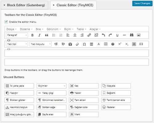 Wordpress Metin Editörü Ekleme