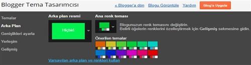 Blogger Tema renk Düzenleme