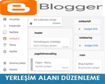 Blogger Yerleşim Alanı Düzenleme