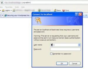 Password Protecting wp-admin using .htaccess