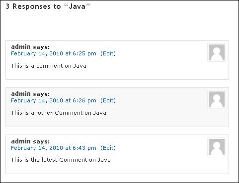 Order of comments