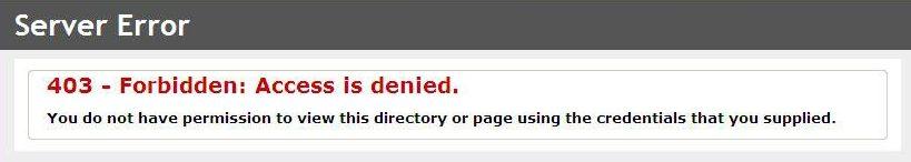 WordPress 403 Forbidden Error