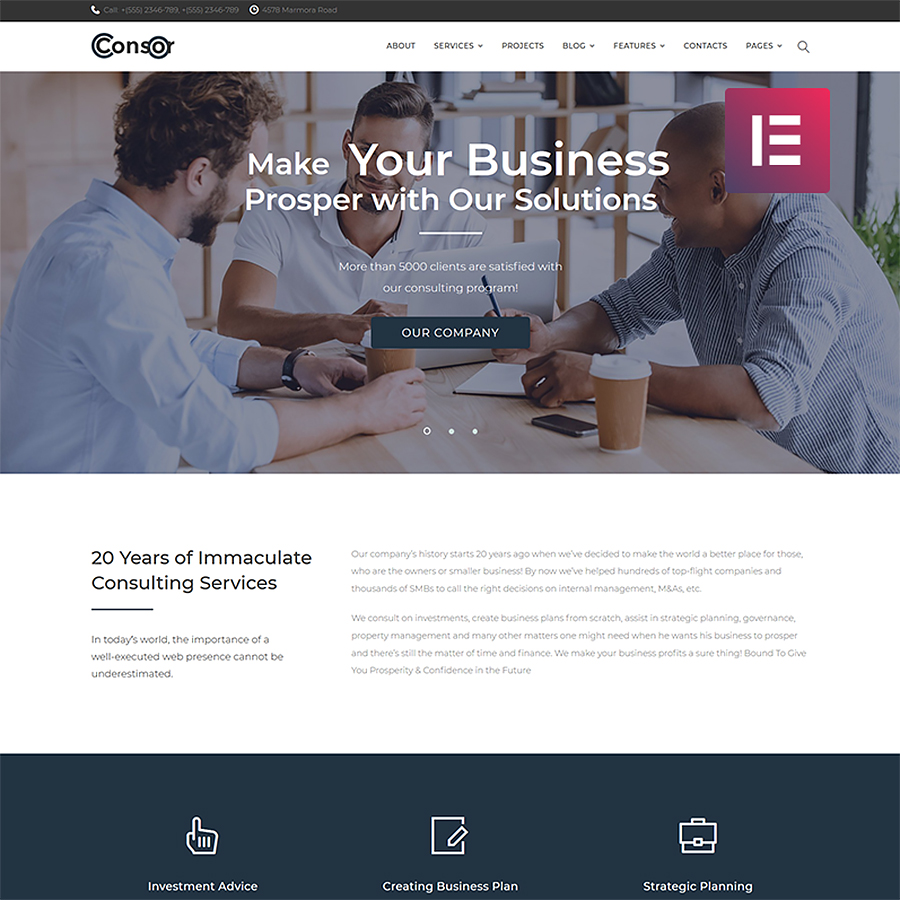 Consor - Business Consulting Elementor WordPress Theme
