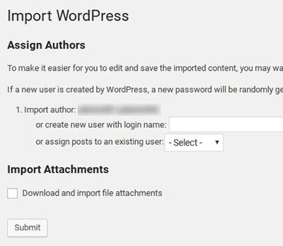 Import WordPress Post and Pages