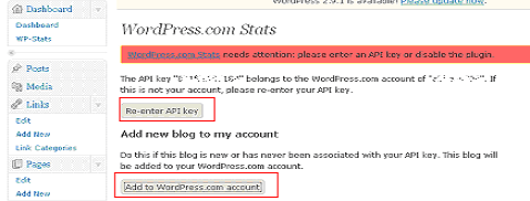 WordPress.com stats - Adding API key