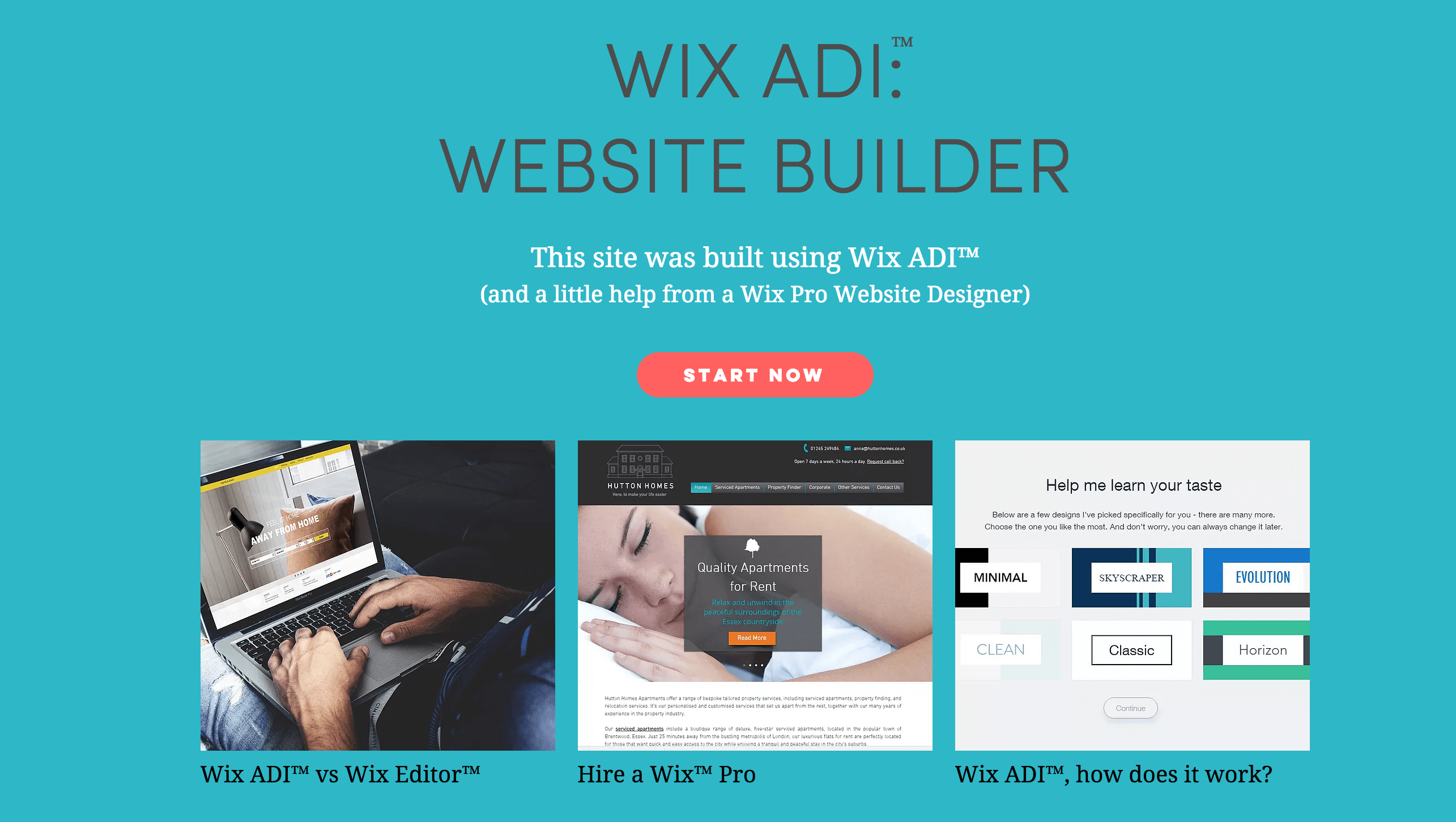 A website created using Wix ADI.
