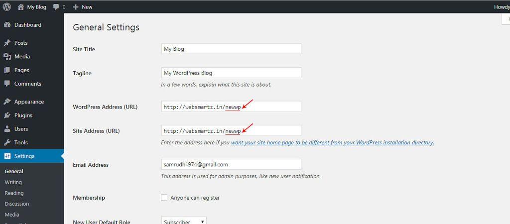 WordPress_Redirect_to_main_Dir