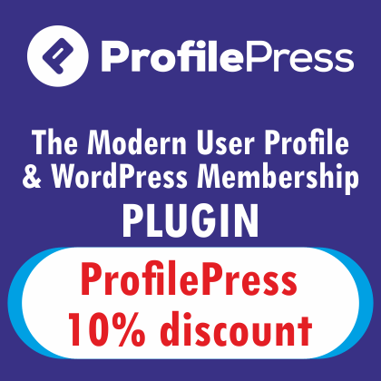 ProfilePress Coupon Code