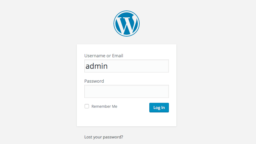 Avoid using admin as your WordPress user name