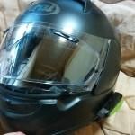 アライのヘルメット(アストロIQ)に曇り止めのピンロックシートを取り付けてみたっ!