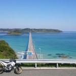 WR250Xと行く山口県へのロングツーリング2日目(角島、元乃隅稲成神社、秋芳洞)