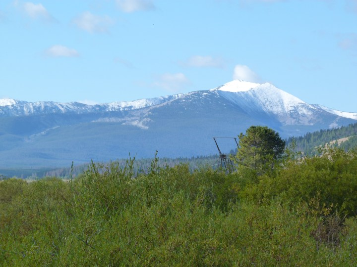 While it had been raining on us in the valley it was snowing on the surrounding mountains