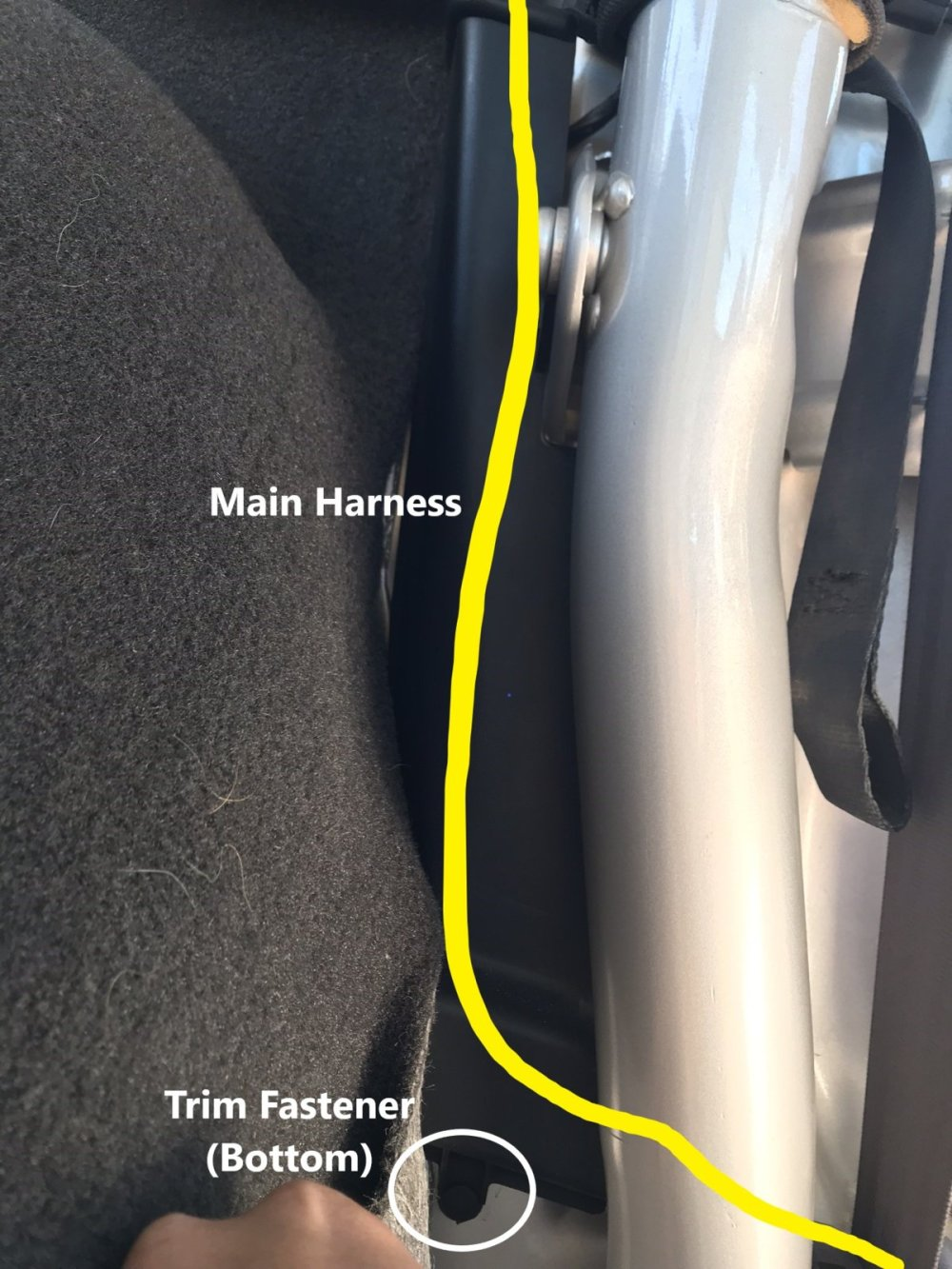 medium resolution of you should be able to fold the trim down and expose the wiring