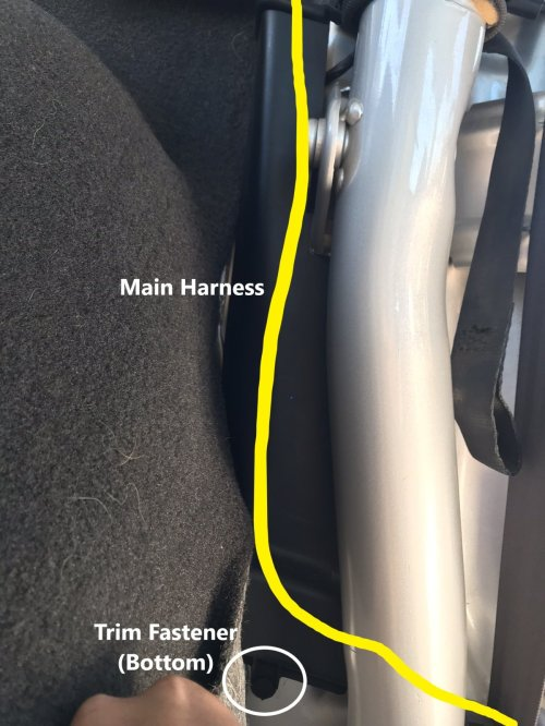 small resolution of you should be able to fold the trim down and expose the wiring