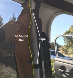 undo the velcro around the roll bar that the sound bar attaches to reach up above the roll bar and remove the plug this can be done without removing your  [ 1200 x 1600 Pixel ]