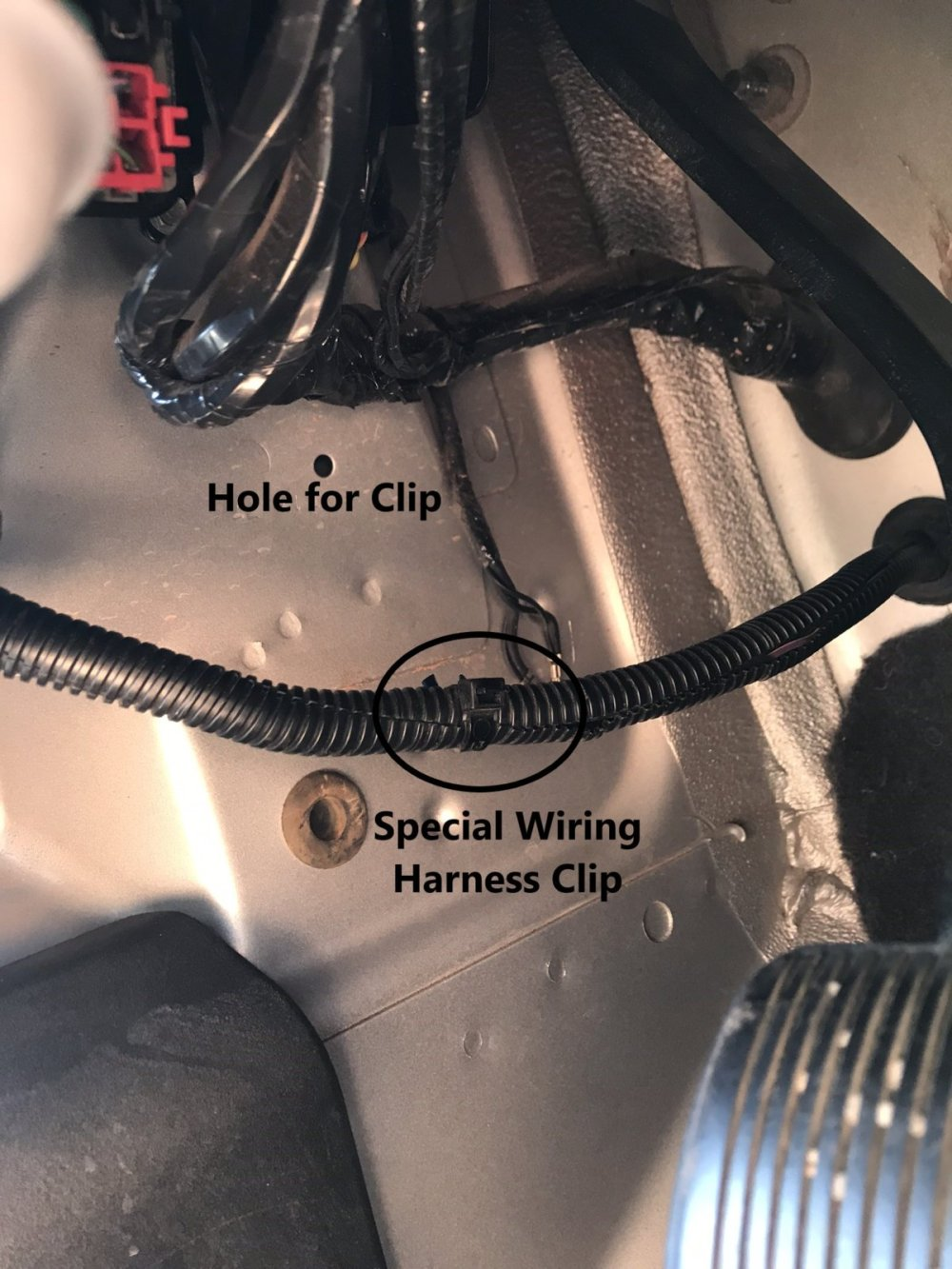 medium resolution of go ahead and remove the old clip if applicable and tape use electrical tape the second wiring harness clip you saved to the washer loom in it s place